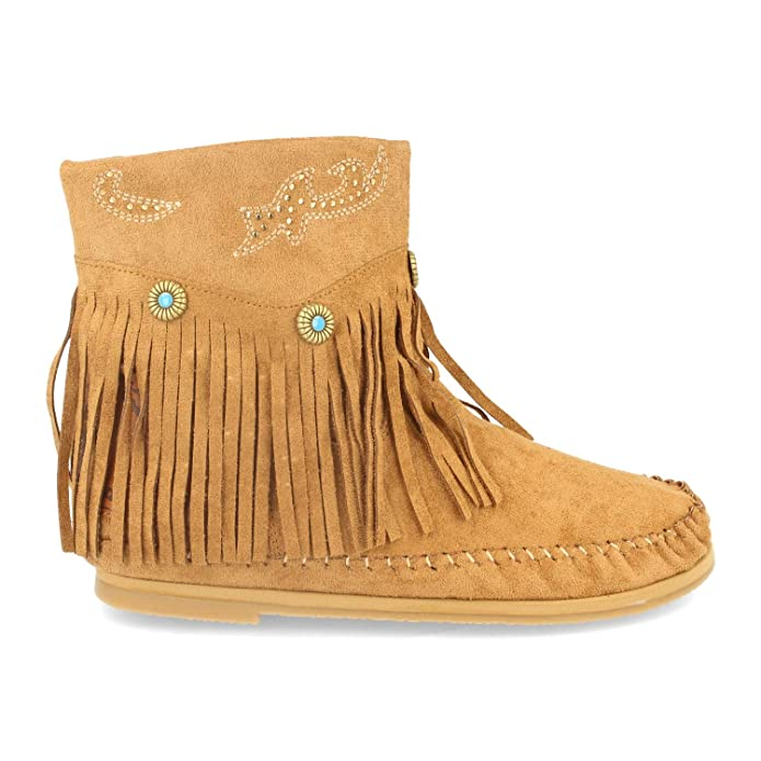Botines boho estilo indio camel
