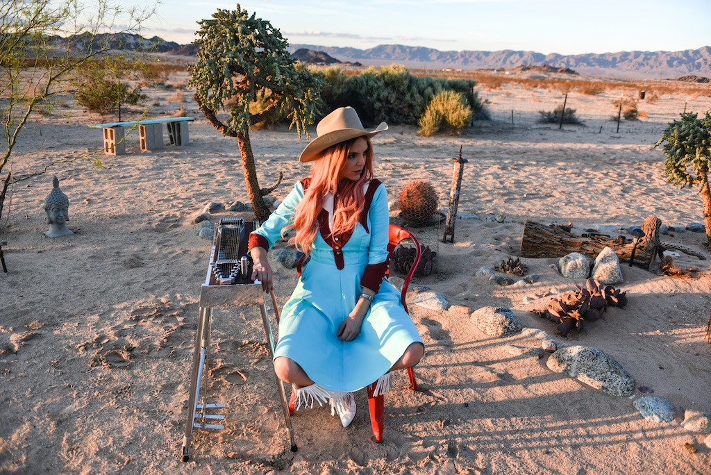 rockin-b-western-nudie-suit-dress-vintage-circle-skirt-fringe-boots-stetson-cowboy-hat-pedal-steel-guitar-female-player-boho-bunnie-joshua-tree-fashion-blogger-country-musician-andrea-whitt 5