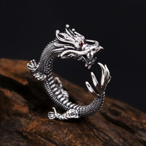 Dragon Ring 100% Real 925 Sterling Silver Fashion Jewelry for Men and Women Thumb Big Finger Wholesale Vintage Thailand GR40