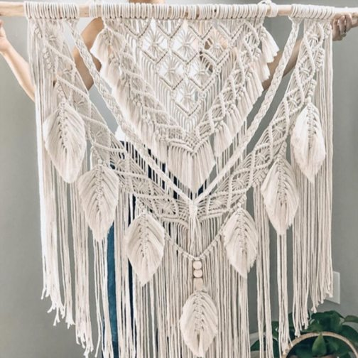 Big Size Macrame Tapestry Wall Hanging Bohemian Chic Handicrafts Woven Tapestry Modern Boho Living Room Bedroom Wall Decoration