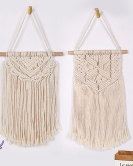 Boho Chic Macrame Wall Hanging Tapestry Cotton Rope