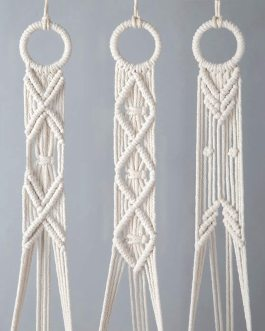 Boho Chic Macrame Plant Hanger Set Of 3 Flower Pot Holder