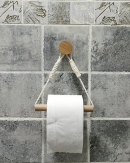 Boho Chic Retro  Rope Wall Mounted toilet paper holder
