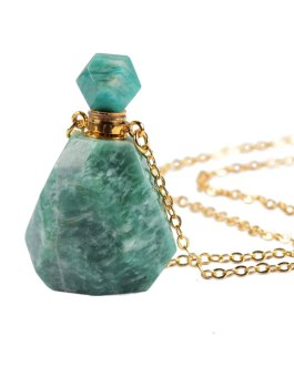 Boho Chic Perfume Bottle Necklace