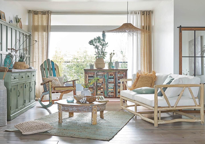 Salon decorado al estilo Boho Chic