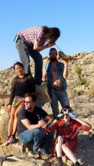 Adventure in JoshuaTree & Furst World Hive Gallery crew photo by Janell Champoy Lim