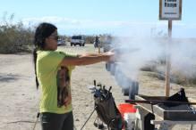 Target shooting antique guns at East Jesus photo by Daisuke Okamoto