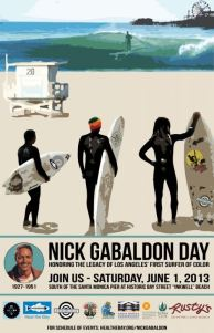 Nick Gabaldon Day celebrating the birthday and life of the first Black Surfer