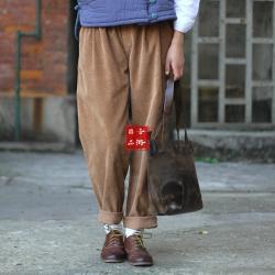 Aoyama notes вельветовые брюки