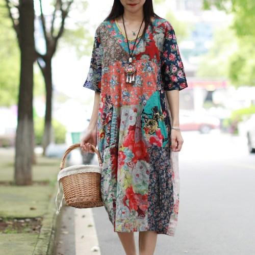 Chaos in Gangnam цветное платье-халат
