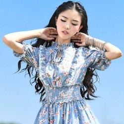 MOK яркое голубое платье