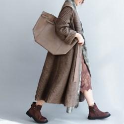 QINGZHUO шерстяное пальто-кардиган