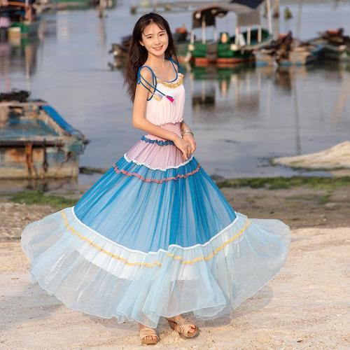 Boshow разноцветное платье