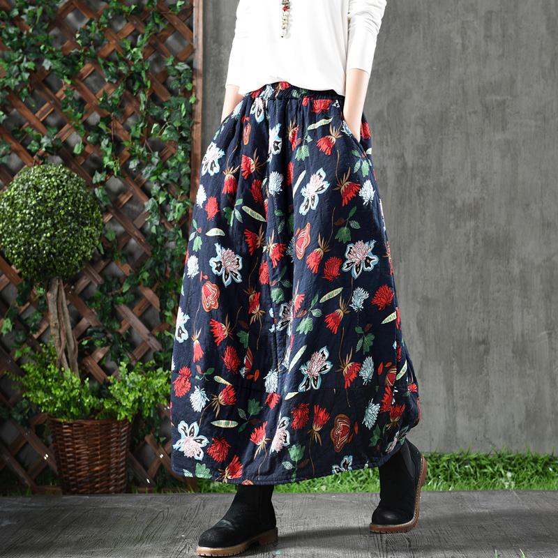Sweet corset теплая юбка с яркими цветами
