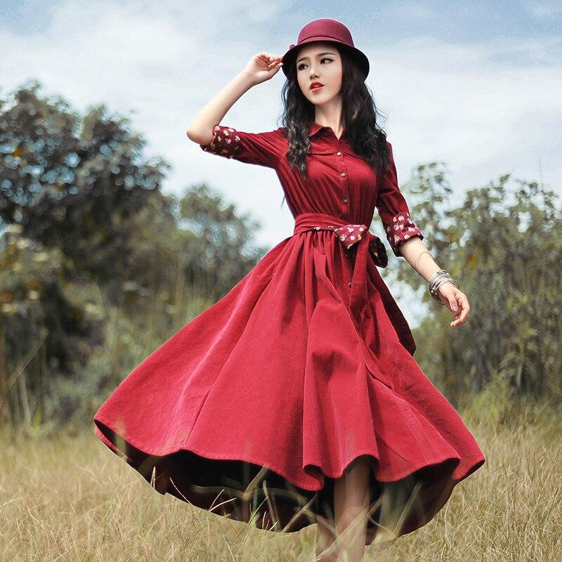 Boshow вельветовое платье (шоу-рум)