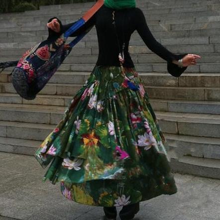 Suxin многослойная юбка с лилиями