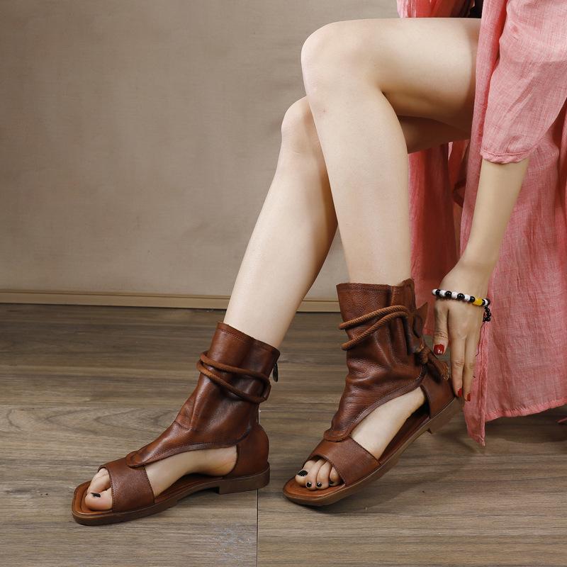 Susemade высокие этно сандалии