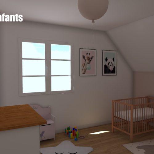 Chambre des jumelles - Projet 3D
