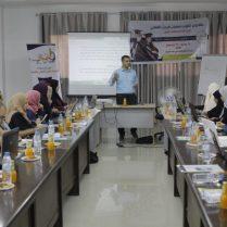 دورة التحليل الاحصائي الأساسية لطلبة الدراسات العليا بقيادة الدكتور عصام داوود في مقر نقابة الإداررين بقطاع غزة