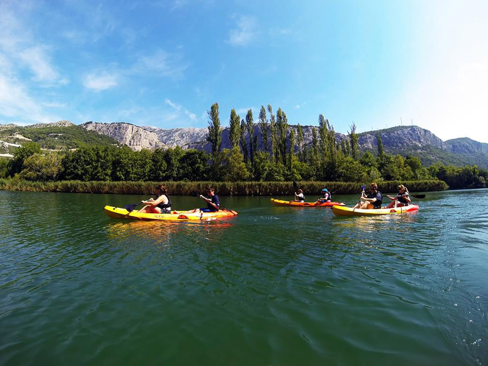 Boho travel art kayaking and snorkeling
