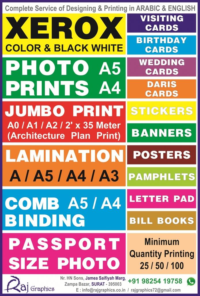 Raj Graphics Surat  Bohrabusiness