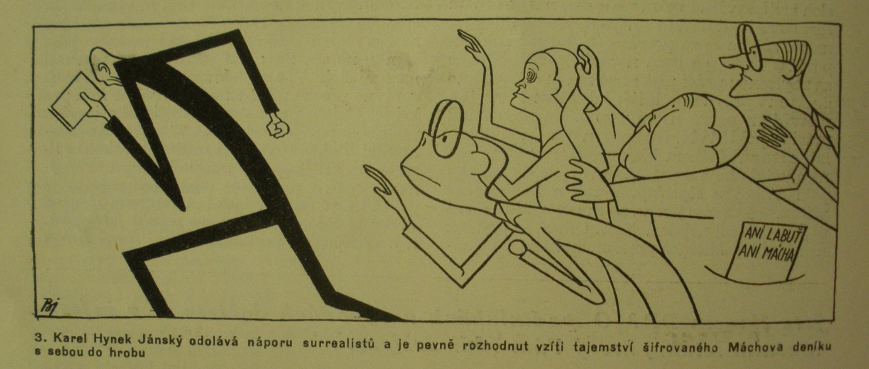 Karikatura Františka Bidla, magazin dp, září 1936