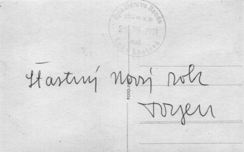 Pohlednice od Toyen, 1934