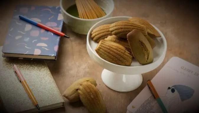Japanese matcha madeleines