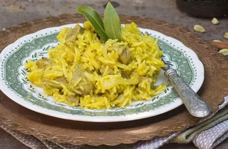 Lamb biryani, single dish