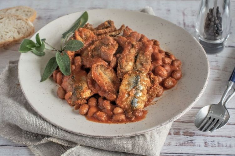 Beans and sardines