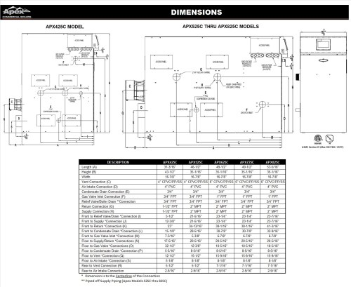 small resolution of dimensional drawing for apex condensing hot water boilers