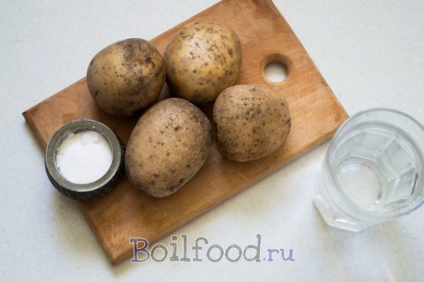 картошка соль и вода
