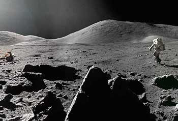 Image result for first human on moon