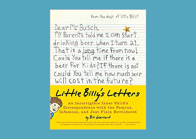 """Read these funny letters that """"Little Billy"""" wrote to famous people, and how they replied 