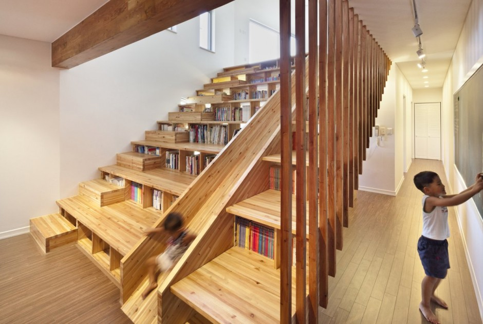 Bookcase Stairs Bookcase/staircase/slide! - Boing Boing