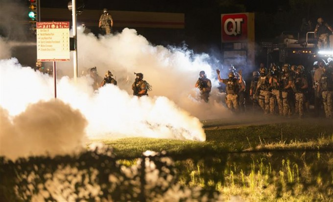 Image from Ferguson. REUTERS/Mario Anzuoni