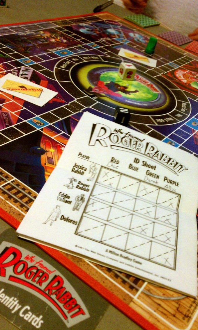 rodger rabbit game and score pad