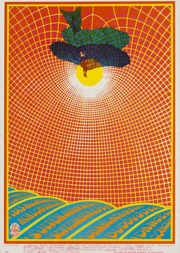 Charlatans, September 22-24, 1967, Avalon Ballroom, San Francisco. Artist: Robert Fried.