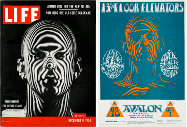 The Zebra Man poster is one of the most psychedelic in rock, but its source is taken from a photograph by Ralph Morse, whose December 6, 1954 cover story for LIFE called