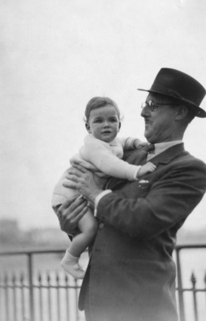 John with his father.