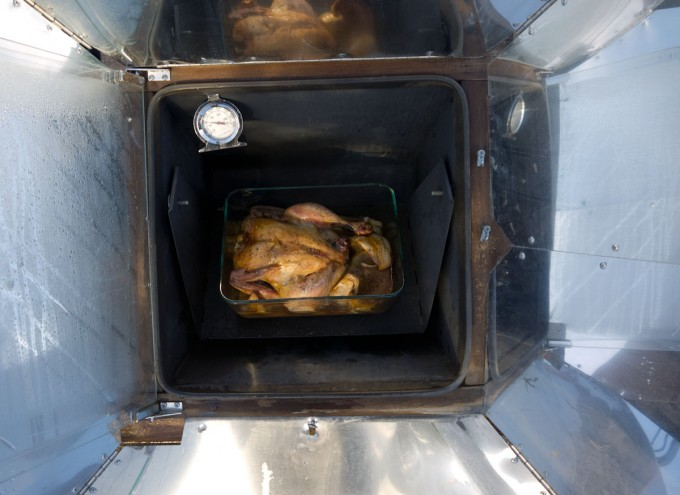 Chicken in solar cooker