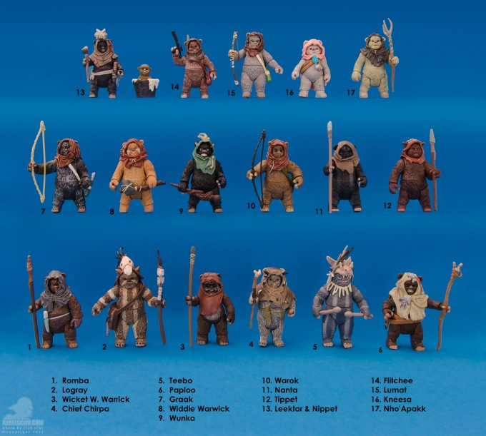 Ewok action figures featured on RebelScum.com.