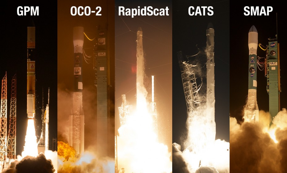 Over the past 12 months NASA has added five missions to its orbiting Earth-observing fleet – the biggest one-year increase in more than a decade. Image: NASA