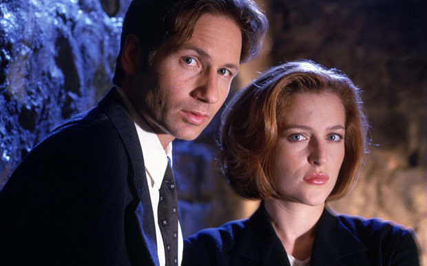 David Duchovny and Gillian Anderson in The X Files.