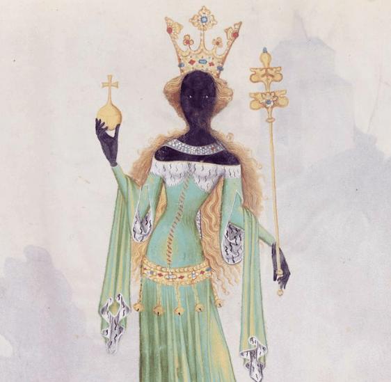 Conrad-Kyeser-Bellifortis-fol.-122r-The-Queen-of-Sheba