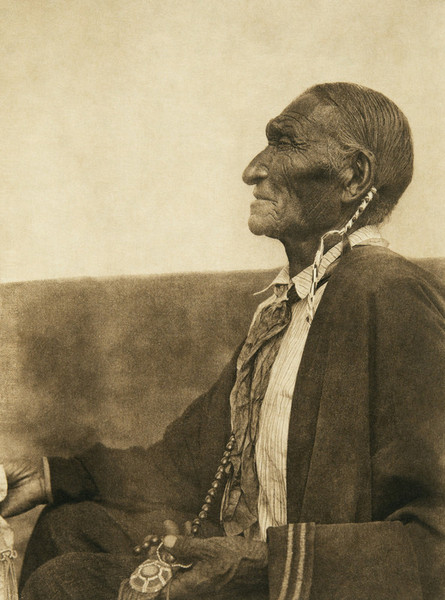A Cheyenne peyote leader. Photo: Edward Curtis.