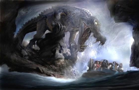 Roaring Rapids Dinosaur Concept Art