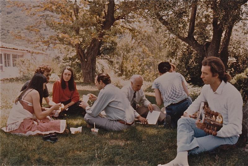 Luminaries on the lawn: Terence McKenna, Kat Harrison (McKenna), Albert Hofmann