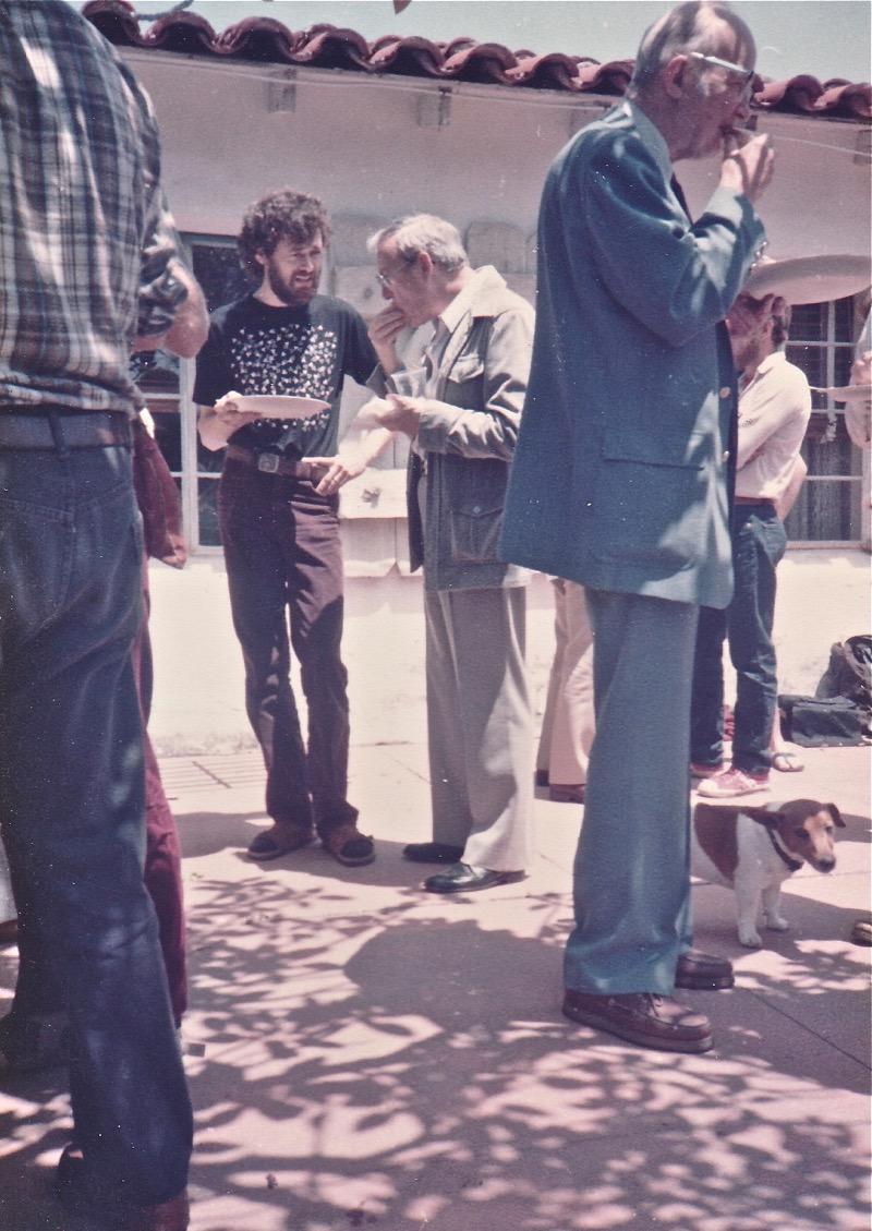 Terence McKenna, Jeremy Tarcher (background), Walter Houston Clark (foreground)