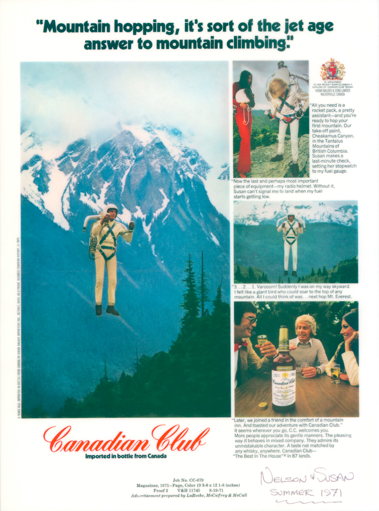 Nelson-flies-for-Canadian-Club-Advert-19711